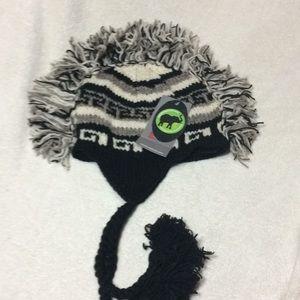 LoudElephant knit Wool Hat Mohawk M Punk black new